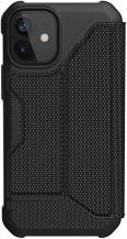 UAGUAG Metropolis Wallet Case iPhone 12 Mini - Kevlar Black