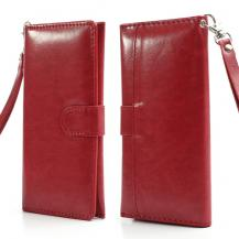 OEMGrain Plånboksfodral av konstläder - Röd