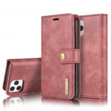 DG.MINGDG.MING Äkta Läder Plånboksfodral iPhone 13 Pro Max - Röd