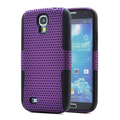 Mesh Combo Skal till Samsung Galaxy S4 i9500 (Lila)