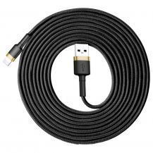 BASEUSBaseus Cafule lightning kabel QC 3.0 2A 3M Svart-guld