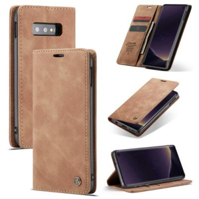 CASEME Plånboksfodral för Samsung Galax S10e - Brun