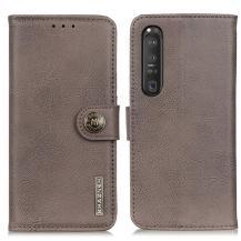KHAZNEHKhanzeh - Plånboksfodral Sony Xperia 1 III - Grå