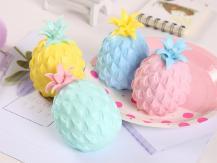 Fidget ToysSquishy Ananas - Klämleksak Stressboll - Blandade Färger