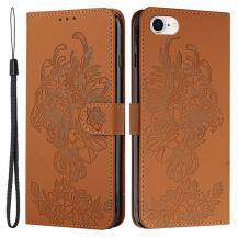 A-One BrandTiger Flower Plånboksfodral till iPhone 6/6S/7/8/SE - Brun