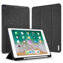 Dux DucisDux Ducis Tri-Fold Läderfodral till iPad 9.7 2018 - Svart
