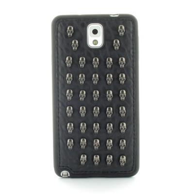Studded Leather Pattern Flexiskal till Samsung Galaxy Note 3 (Full Skulls)