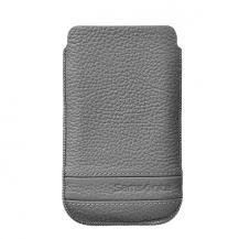 SamsoniteSAMSONITE CLASSIC Mobilväska Läder M Grå till Apple iPhone 5/5S/SE