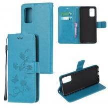 A-One BrandButterfly Plånboksfodral till Samsung Galaxy S20 - Blå