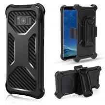 OEM2-in-1 mobilskal med bältesfodral till Galaxy S8 Plus - Svart
