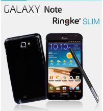 RearthRingke Slim till Samsung Galaxy NOTE (SVART) + Skärmskydd