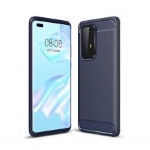 A-One BrandCarbon Fiber mobilskal till Huawei P40 Pro - Blå