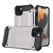 HurtelHybrid Armor Tough Rugged Skal iPhone 13 - Silver