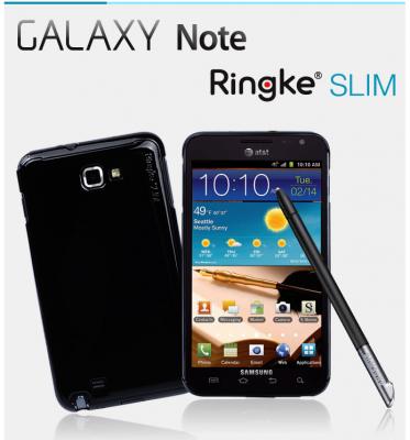 Ringke Slim till Samsung Galaxy NOTE (SVART) + Skärmskydd