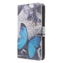 OEMPlånboksfodral till Sony Xperia E4 - Blå Fjäril