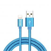 Boom of SwedenBoom of Sweden - Nylon USB till Lightning Kabel, 2.1A, 3M - Blå