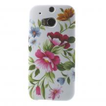 OEMFlexiSkal till HTC One M8 med blommotiv