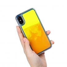 OEMLiquid Neon Sand skal till iPhone X - Orange