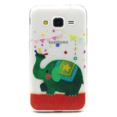 Mobilskal till Samsung Galaxy Core Prime - Grön Elefant