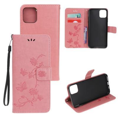 Butterfly Plånboksfodral till iPhone 11 - Rosa