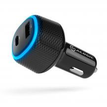 ALOGICALOGIC RAPID 2-portars USB-C och USB-A-billaddare för laptop och mobil