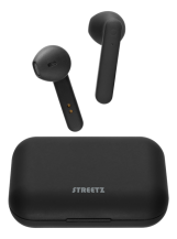 STREETZSTREETZ True Wireless Stereo hörlurar med laddningsetui, semi-in-ear, BT 5