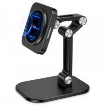ESRESR - Halolock Magnetic Magsafe Adjustable Wireless Charger Stand - Svart