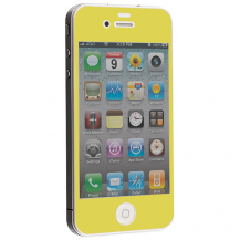 A-One BrandColored Tempered Glass Skärmskydd till Apple iPhone 4 / 4S - Gul