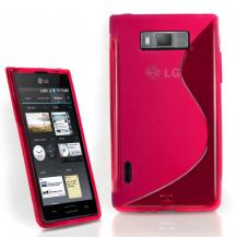 A-One BrandFlexiCase Skal till LG Optimus L7 - P700 - (Rosa)