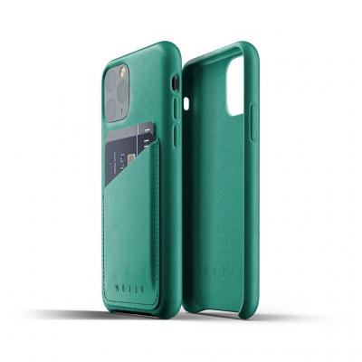 Mujjo Full Leather Wallet Case till iPhone 11 Pro Max - Alpinegrön