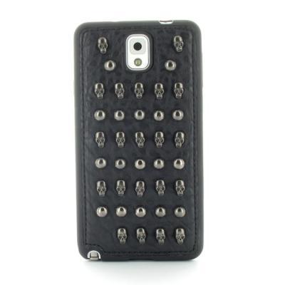 Studded Leather Pattern Flexiskal till Samsung Galaxy Note 3 (Skull Dots)