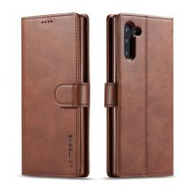 LC.imeekeLC.IMEEKE Plånboksfodral för Samsung Galaxy Note 10 - Mörkbrun