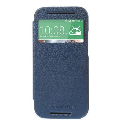 Mercury Bumper View Plånboksfodral till HTC One M8 (2014) - Mörkblå
