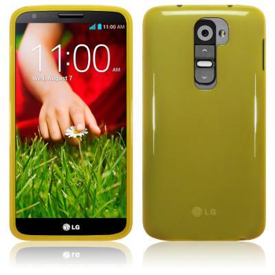 FlexiCase Skal till LG G2 (Gul)