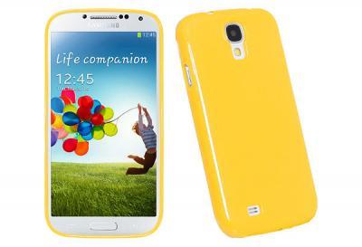Glittery FlexiSkal till Samsung Galaxy S4 - i9500 (Gul)