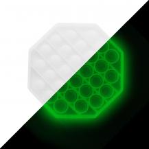 Fidget ToysPop it Fidget Sensory Leksak - Självlysande - Oktogon - Vit