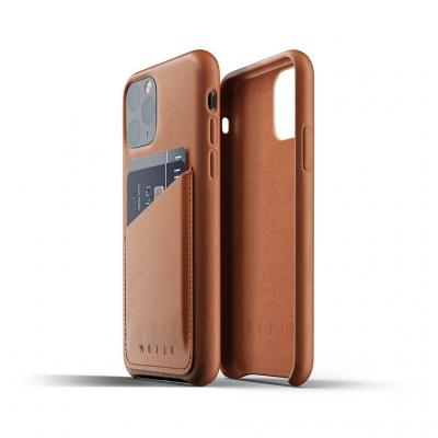 Mujjo Full Leather Wallet Case till iPhone 11 Pro Max - Tan