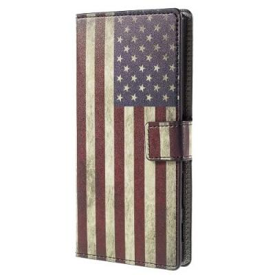 Plånboksfodral till Sony Xperia Z5 Premium - America