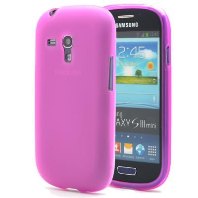 FlexiCase Skal till Samsung Galaxy S3 Mini i8190 - (Magenta)