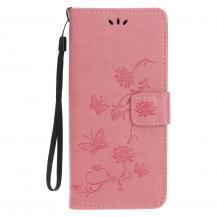 OEMImprint Läder Plånboksfodral iPhone 12 & 12 Pro - Rosa