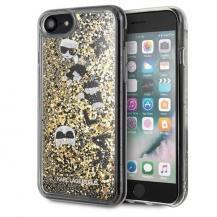 KARL LAGERFELDKarl Lagerfeld skal iPhone 7/8 Svart guld Glitter