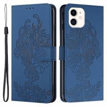 A-One BrandTiger Flower Plånboksfodral till iPhone 12 Mini - Blå
