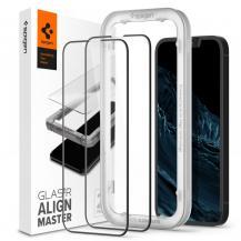 SpigenSpigen Alm Härdat glas FC 2 Pack iPhone 13 / 13 Pro - Svart