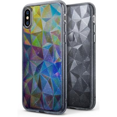 Ringke Air Prism Glitter Skal till Apple iPhone XS / X - Grå