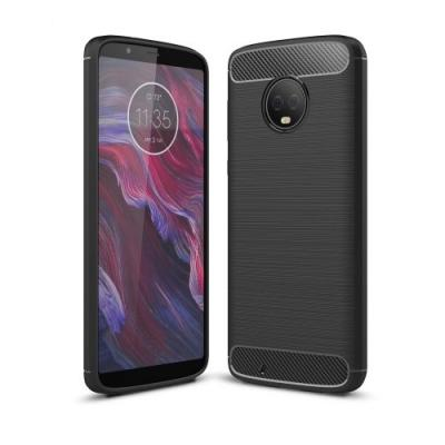 Carbon Brushed Mobilskal till Motorola Moto G6 - Svart