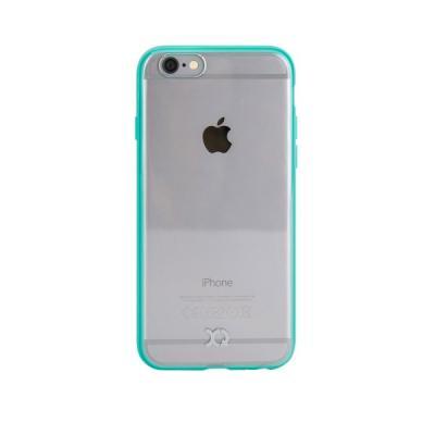Xqisit iPlate Odet Skal till iPhone 6 / 6S - Cyan/Transparent