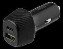DeltacoDELTACO USB-billaddare med dubbla USB-portar och snabbladdning