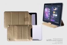 ROCKRock Sleeve med stand support Väska för Samsung Galaxy Tab 10,1 (KHAKI)