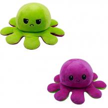Fidget ToysDubbelsidig Vändbar Octopus Flip - Lila/Grön