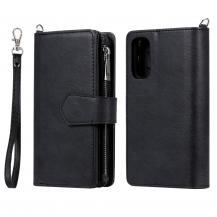 Zipper Magnet Plånboksfodral till Galaxy S20 Plus - Svart